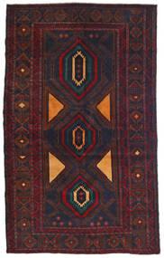Beluch Covor 115X180 Orientale Lucrat Manual Negru/Roșu-Închis (Lână, Afganistan)