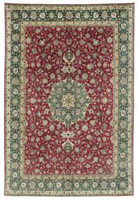 Tabriz 50 Raj Covor 245X362 Orientale Lucrat Manual Gri Închis/Roșu-Închis (Lână, Persia/Iran)