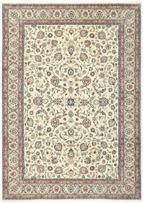 Kashmar Covor 244X344 Orientale Lucrat Manual Bej/Gri Deschis (Lână/Mătase, Persia/Iran)