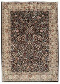 Kerman Lavar Covor 250X348 Orientale Lucrat Manual Gri Deschis/Negru Mare (Lână/Mătase, Persia/Iran)