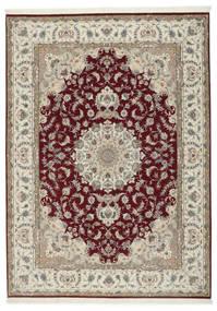 Tabriz 50 Raj Cu Mătase Covor 248X347 Orientale Lucrat Manual Gri Deschis/Roșu-Închis (Lână/Mătase, Persia/Iran)