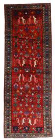 Hamadan Covor 108X304 Orientale Lucrat Manual Roșu-Închis/Ruginiu/Negru (Lână, Persia/Iran)