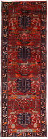 Hamadan Covor 104X307 Orientale Lucrat Manual Roșu-Închis/Maro Închis (Lână, Persia/Iran)
