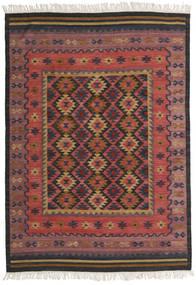 Chilim Marmaris Covor 160X230 Modern Lucrate De Mână Roșu-Închis/Negru (Lână, India)
