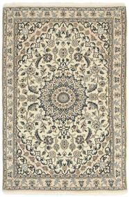 Nain 9La Covor 98X150 Orientale Lucrat Manual Bej/Gri Deschis (Lână/Mătase, Persia/Iran)