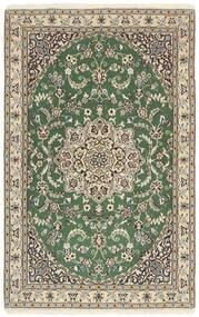 Nain 9La Covor 97X153 Orientale Lucrat Manual Gri Deschis/Verde Oliv/Bej (Lână/Mătase, Persia/Iran)