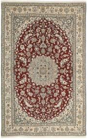 Nain 9La Covor 160X248 Orientale Lucrat Manual Gri Deschis/Roșu-Închis (Lână/Mătase, Persia/Iran)