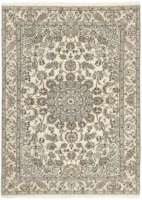 Nain 9La Covor 150X214 Orientale Lucrat Manual Gri Deschis/Bej (Lână/Mătase, Persia/Iran)