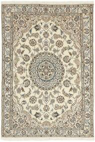 Nain 9La Covor 100X148 Orientale Lucrat Manual Gri Deschis/Bej (Lână/Mătase, Persia/Iran)