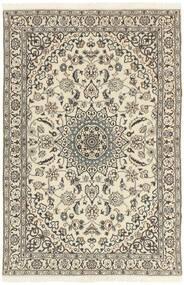 Nain 9La Covor 114X178 Orientale Lucrat Manual Gri Deschis/Bej (Lână/Mătase, Persia/Iran)