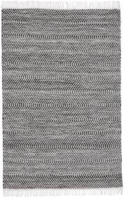 Chinara - Negru/White Covor 140X200 Modern Lucrate De Mână Gri Deschis/Gri Închis/Maro Închis (Lână, India)