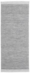 Serafina - Gri Închis Melange Covor 100X250 Modern Lucrate De Mână Gri Deschis (Lână, India)