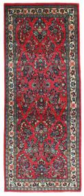 Sarouk Covor 79X198 Orientale Lucrat Manual Negru/Albastru Închis (Lână, Persia/Iran)