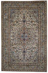 Kashan Covor 254X387 Orientale Lucrat Manual Gri Închis/Gri Deschis Mare (Lână, Persia/Iran)