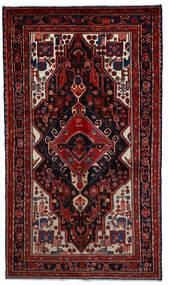 Hamadan Covor 164X289 Orientale Lucrat Manual Roșu-Închis (Lână, Persia/Iran)