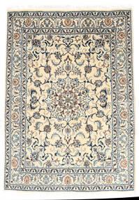 Nain Covor 147X210 Orientale Lucrat Manual Gri Deschis/Bej (Lână, Persia/Iran)