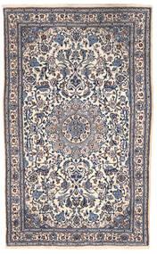 Nain Covor 151X255 Orientale Lucrat Manual Gri Închis/Bej (Lână, Persia/Iran)