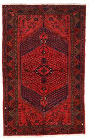 Zanjan Covor 126X205 Orientale Lucrat Manual Roșu-Închis/Maro Închis/Ruginiu (Lână, Persia/Iran)