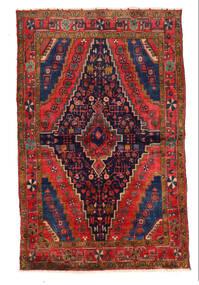 Najafabad Covor 136X218 Orientale Lucrat Manual Mov Închis/Roșu-Închis (Lână, Persia/Iran)