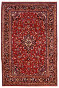Kashan Covor 200X300 Orientale Lucrat Manual Roșu-Închis/Ruginiu (Lână, Persia/Iran)