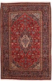 Kashan Covor 198X302 Orientale Lucrat Manual Roșu-Închis (Lână, Persia/Iran)