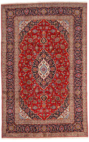 Kashan Covor 192X303 Orientale Lucrat Manual Roșu-Închis/Maro Închis (Lână, Persia/Iran)
