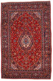 Kashan Covor 202X310 Orientale Lucrat Manual Roșu-Închis/Ruginiu (Lână, Persia/Iran)
