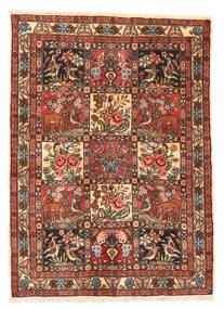 Bakthiari Collectible Covor 105X145 Orientale Lucrat Manual Maro Închis/Roșu-Închis (Lână, Persia/Iran)
