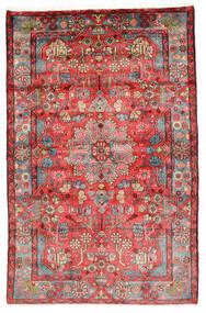 Nahavand Old Covor 154X241 Orientale Lucrat Manual Roșu-Închis/Ruginiu (Lână, Persia/Iran)