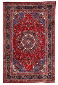 Mashhad Covor 195X300 Orientale Lucrat Manual Roșu-Închis/Roşu (Lână, Persia/Iran)