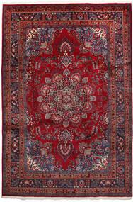 Mashhad Covor 192X297 Orientale Lucrat Manual Roșu-Închis/Negru (Lână, Persia/Iran)