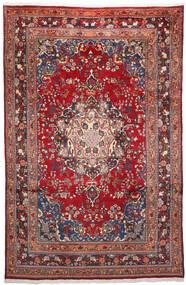 Mashhad Covor 200X303 Orientale Lucrat Manual Roșu-Închis/Mov Închis (Lână, Persia/Iran)