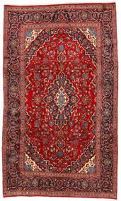 Kashan Covor 192X325 Orientale Lucrat Manual Roșu-Închis/Ruginiu (Lână, Persia/Iran)