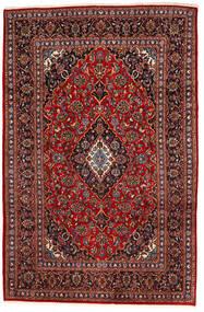 Kashan Covor 195X294 Orientale Lucrat Manual Roșu-Închis/Negru (Lână, Persia/Iran)