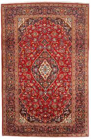 Kashan Covor 200X309 Orientale Lucrat Manual Roșu-Închis/Ruginiu (Lână, Persia/Iran)
