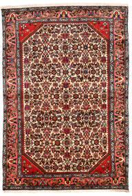 Hamadan Covor 131X194 Orientale Lucrat Manual Maro Închis/Bej (Lână, Persia/Iran)
