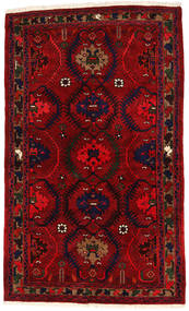Hamadan Covor 136X224 Orientale Lucrat Manual Roșu-Închis/Roşu (Lână, Persia/Iran)