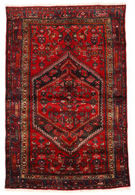 Zanjan Covor 133X203 Orientale Lucrat Manual Roșu-Închis/Maro Închis/Ruginiu (Lână, Persia/Iran)