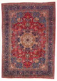 Mashhad Covor 197X280 Orientale Lucrat Manual Roșu-Închis/Mov Închis (Lână, Persia/Iran)