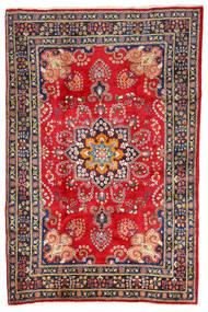 Mashhad Covor 196X288 Orientale Lucrat Manual Gri Închis/Ruginiu (Lână, Persia/Iran)