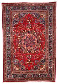 Mashhad Covor 199X297 Orientale Lucrat Manual Roșu-Închis/Maro Închis (Lână, Persia/Iran)