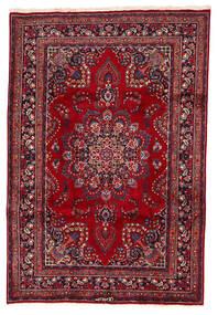 Mashhad Covor 200X294 Orientale Lucrat Manual Roșu-Închis/Albastru Închis (Lână, Persia/Iran)