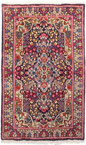 Kerman Covor 91X150 Orientale Lucrat Manual Roșu-Închis/Mov Închis (Lână, Persia/Iran)
