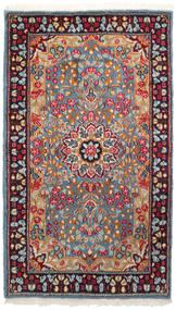 Kerman Covor 90X155 Orientale Lucrat Manual Roșu-Închis/Gri Deschis (Lână, Persia/Iran)