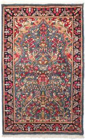 Kerman Covor 95X155 Orientale Lucrat Manual Gri Închis/Ruginiu (Lână, Persia/Iran)