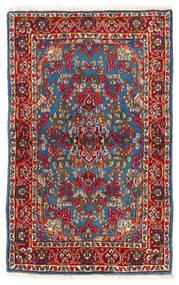 Kerman Covor 92X149 Orientale Lucrat Manual Roșu-Închis/Albastru (Lână, Persia/Iran)