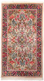Kerman Covor 87X155 Orientale Lucrat Manual Gri Închis/Bej (Lână, Persia/Iran)