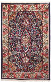 Kerman Covor 91X146 Orientale Lucrat Manual Mov Închis/Roșu-Închis (Lână, Persia/Iran)