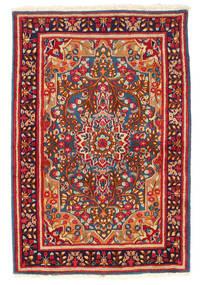 Kerman Covor 119X178 Orientale Lucrat Manual Roșu-Închis/Mov Închis (Lână, Persia/Iran)