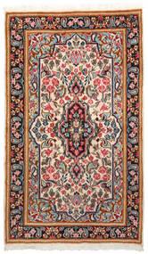 Kerman Covor 90X152 Orientale Lucrat Manual Maro Închis/Bej (Lână, Persia/Iran)